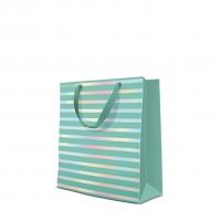 10 Geschenktaschen - Reflex Stripes mint