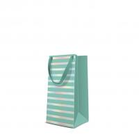 10 Geschenktaschen - Reflex Stripes  mint narrow
