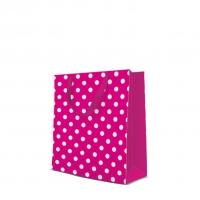 10 Geschenktaschen - Dotsy Check  fuchsia