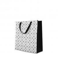 10 Geschenktaschen - Dots Texture  black medium