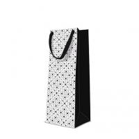 10 Geschenktaschen - Dots Texture  black