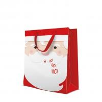 10 Geschenktaschen - Santa Face