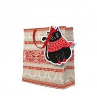 10 Geschenktaschen - Xmas Cat