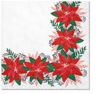 Servietten 25x25 cm - Lovely Poinsettia
