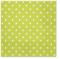 Servietten 25x25 cm - Dots (green)