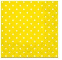 Servietten 25x25 cm - Dots (yellow)