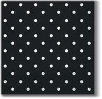 Servietten 25x25 cm - Dots black