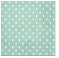 Servietten 25x25 cm - Dots mint