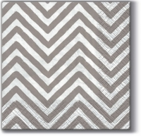 Servietten 25x25 cm - Big Chevron (grey)