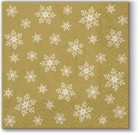 Servietten 25x25 cm - Überall Sterne (Gold)
