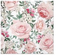 Servietten 25x25 cm - Gorgeous Roses