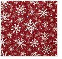 Servietten 25x25 cm - Christmas Snowflakes red