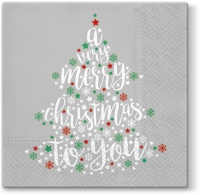 Servietten 33x33 cm - Very Christmas (grey)