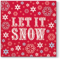 Servietten 33x33 cm - Let it Snow