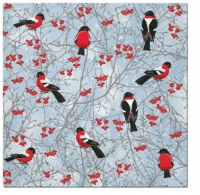 Servietten 33x33 cm - Winter Birds