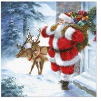 Servietten 33x33 cm - Santa is coming