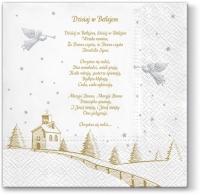 Servietten 33x33 cm - Beste polnische Weihnachtslieder