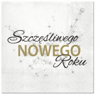 Servietten 33x33 cm - Polish New Year