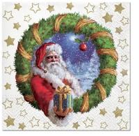 Servietten 33x33 cm - Gift from Santa
