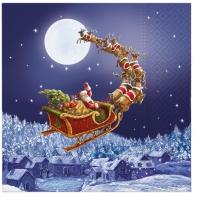 Servietten 33x33 cm - Christmas Sleigh
