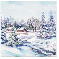 Servietten 33x33 cm - Winter Village
