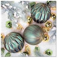 Servietten 33x33 cm - Turquoise Decorations