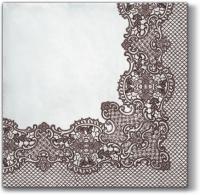 Servietten 33x33 cm - Royal Lace (brown)