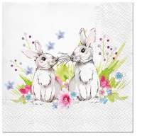 Servietten 33x33 cm - Bunnies in Love