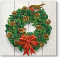 Servietten 33x33 cm - Wreath on Door