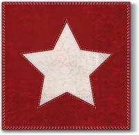 Servietten 33x33 cm - Weihnachtsstern (rot)