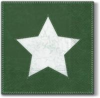 Servietten 33x33 cm - Weihnachtsstern (grün)