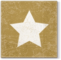 Servietten 33x33 cm - Weihnachtsstern (gold)