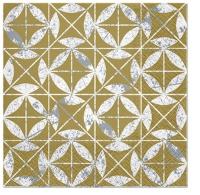 Servietten 33x33 cm - Mosaic Texture gold