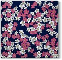 Servietten 33x33 cm - Blumenteppich violett