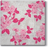 Servietten 33x33 cm - Flower & Lance (rosa)