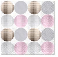 Servietten 33x33 cm - Dotsy Dots (rosa)