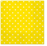 Lunch Servietten Dots intense yellow