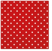 Servietten 33x33 cm - Dots (red)