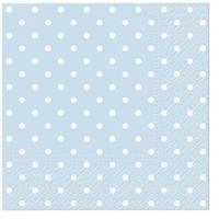 Servietten 33x33 cm - Dots (light blue)