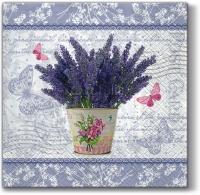 Servietten 33x33 cm - Blühender Lavendel