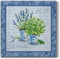 Servietten 33x33 cm - Basilikum & Lavendel