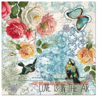 Servietten 33x33 cm - Love is in the Air