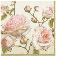 Servietten 33x33 cm - Beauty Roses