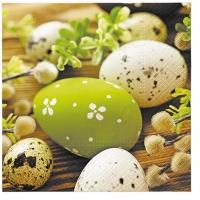 Servietten 33x33 cm - Eier zwischen Kätzchen