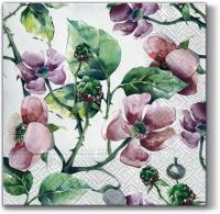 Servietten 33x33 cm - Rosa Wildrosen