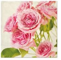 Servietten 33x33 cm - Rosa Rosen