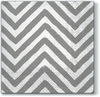 Servietten 33x33 cm - Big Chevron grey