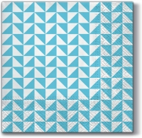 Servietten 33x33 cm - Lanes of Triangles blue