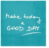 Servietten 33x33 cm - Good Day (turquoise)