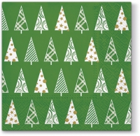 Servietten 33x33 cm - Triangle Trees (green)